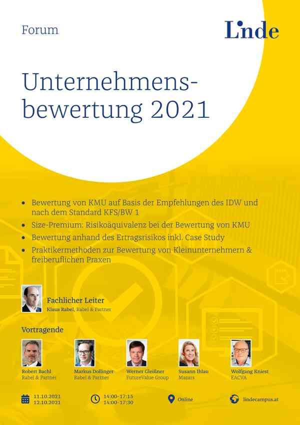 Forum Unternehmensbewertung 2021