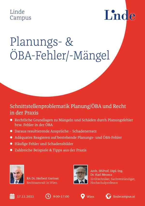 Planungs- & ÖBA-Fehler/-Mängel
