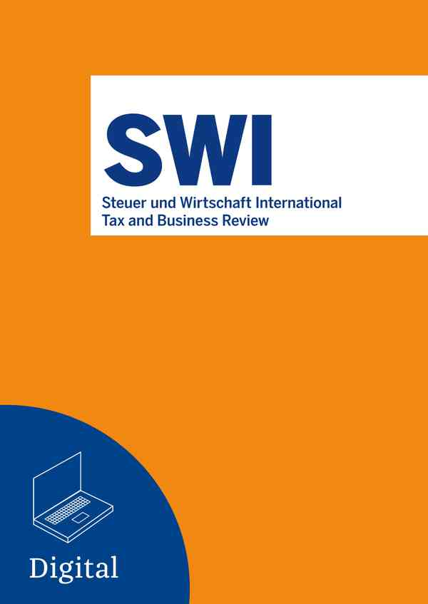 Steuer und Wirtschaft International - Tax and Business Review