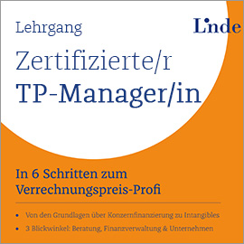 Zertifizierte/r Transfer Pricing-ManagerIn
