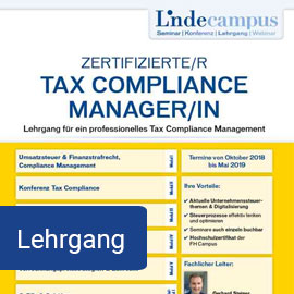 Zertifizierte/r Tax Compliance Manager/in